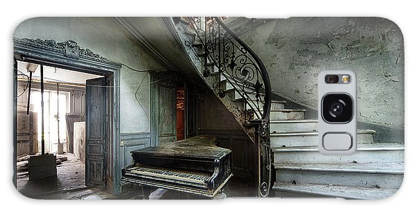 The Sound Of Decay - Abandoned Piano Galaxy Case by Dirk Ercken