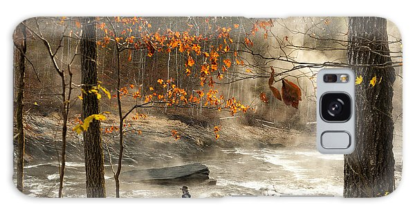 Fork River In Fall Galaxy Case