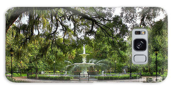 Forsyth Park Fountain Historic Savannah Georgia Galaxy Case