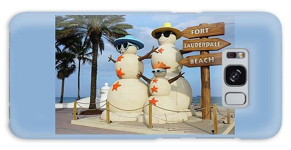 Fort Lauderdale Snowman Galaxy Case