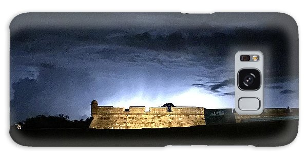 Lightening At Castillo De San Marco Galaxy Case by LeeAnn Kendall