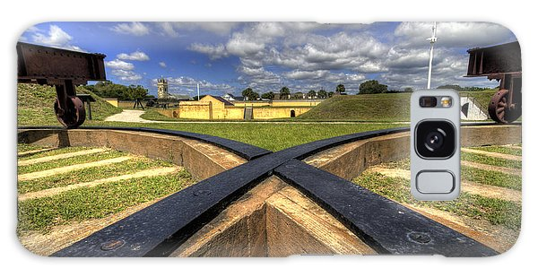 Cannon Galaxy Case - Fort Moultrie Cannon Tracks by Dustin K Ryan