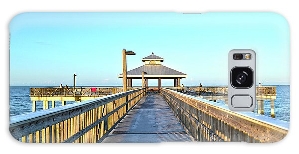Fort Myers Beach Florida Fishing Pier Galaxy Case