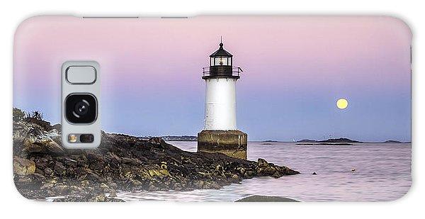 Fort Pickering Lighthouse, Harvest Supermoon, Salem, Ma Galaxy Case