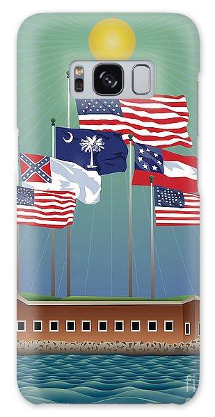 Us Civil War Galaxy Case - Fort Sumter, Charleston, Sc by Joe Barsin