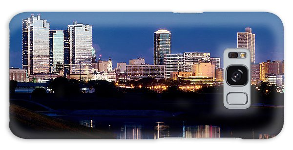 Fort Worth Skyline At Night Poster Galaxy Case