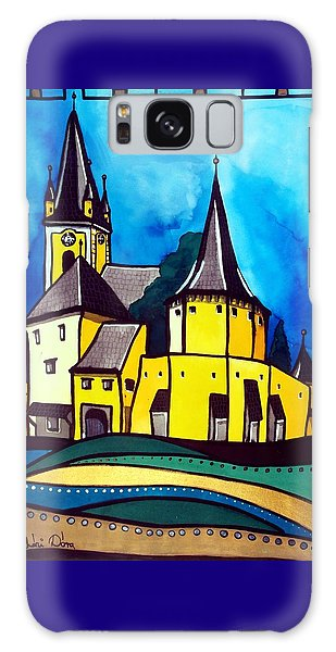 Fortified Medieval Church In Transylvania By Dora Hathazi Mendes Galaxy Case by Dora Hathazi Mendes