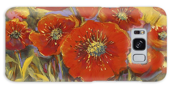 Fortuitous Poppies Galaxy Case