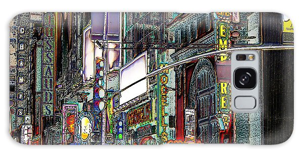Forty Second And Eighth Ave N Y C Galaxy Case by Iowan Stone-Flowers