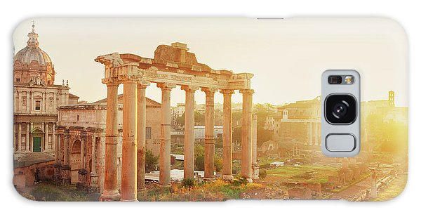 Forum - Roman Ruins In Rome At Sunrise Galaxy Case