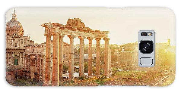 Forum - Roman Ruins In Rome At Sunrise Galaxy Case by Anastasy Yarmolovich