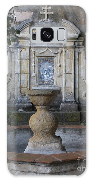 Fountain At Mission Carmel Galaxy Case