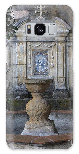 Fountain At Mission Carmel Galaxy Case