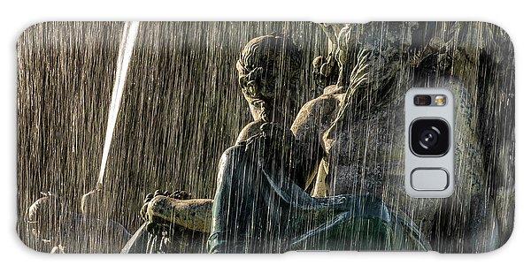 Fountain At Rossio Square Galaxy Case