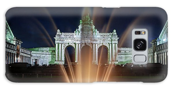 Galaxy Case featuring the photograph Fountain In Parc Du Cinquantenaire - Brussels by Barry O Carroll