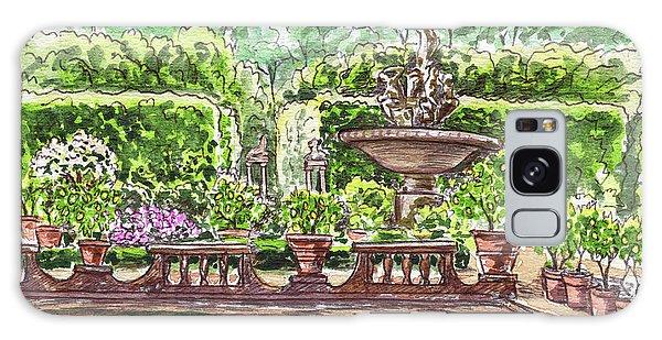 Galaxy Case featuring the painting Fountain Island Boboli Gardens Florence Italy by Irina Sztukowski