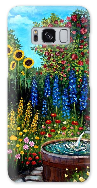 Fountain Of Flowers Galaxy Case