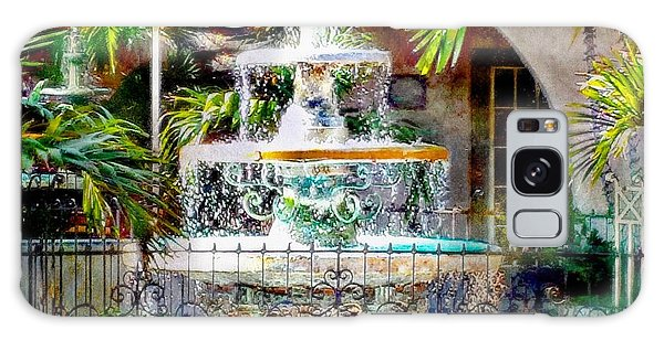 Fountain Of Water Galaxy Case by Barbara Chichester