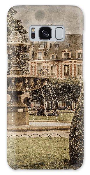 Paris, France - Fountain, Place Des Vosges Galaxy Case
