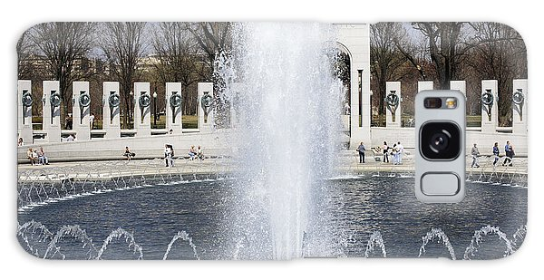 Fountains At The World War II Memorial In Washington Dc Galaxy Case