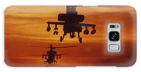 Galaxy Case featuring the photograph Four Ah-64 Apache Anti-armor by Stocktrek Images