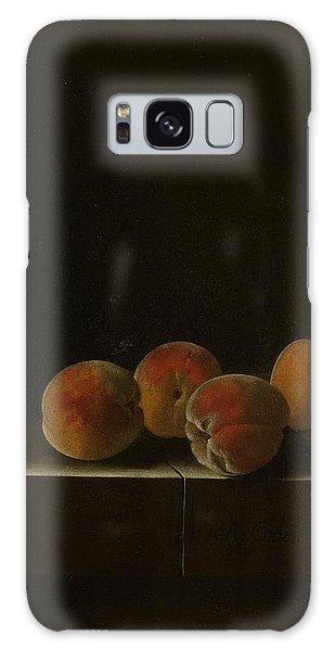 Four Apricots On A Stone Plinth Galaxy Case