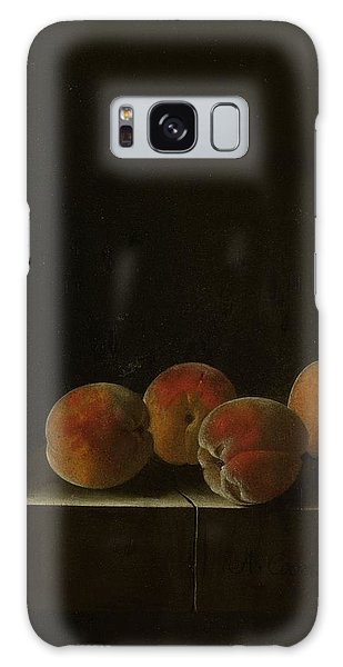 Four Apricots On A Stone Plinth Galaxy Case