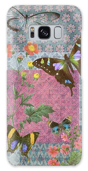 Tapestry Galaxy Case - Four Butterfly Patch Blue by JQ Licensing