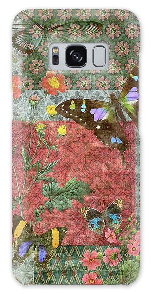 Tapestry Galaxy Case - Four Butterfly Patch Green by JQ Licensing