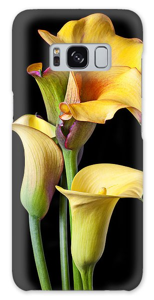 Lily Galaxy Case - Four Calla Lilies by Garry Gay