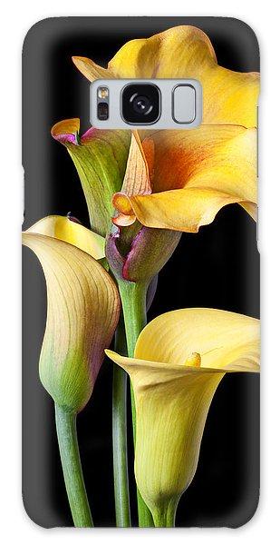 Flora Galaxy Case - Four Calla Lilies by Garry Gay