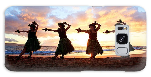 Four Hula Dancers At Sunset Galaxy Case