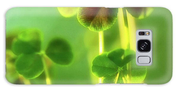 Four Leaf Clover Galaxy Case by Bonnie Bruno