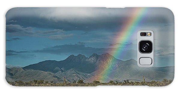 Galaxy Case featuring the photograph Four Peaks Rainbow  by Saija Lehtonen
