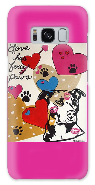 Four Pitty Paws Galaxy Case