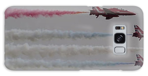 Galaxy Case featuring the photograph Four Red Arrows Smoke Trail - Teesside Airshow 2016 by Scott Lyons