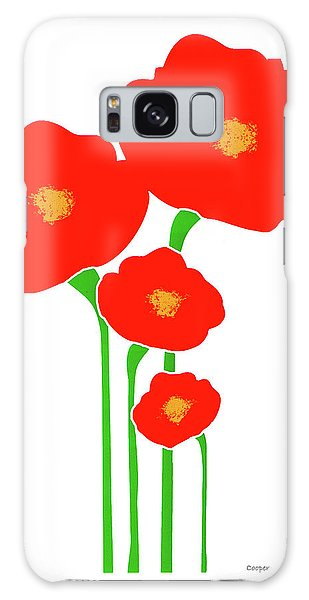 Four Red Flowers Galaxy Case