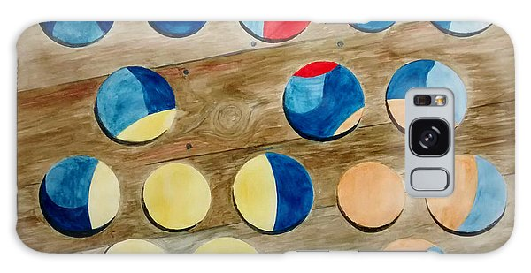 Four Rows Of Circles On Wood Galaxy Case