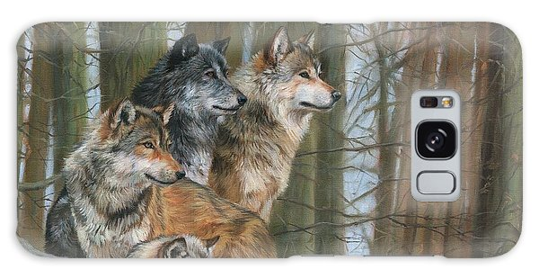 Four Wolves Galaxy Case by David Stribbling