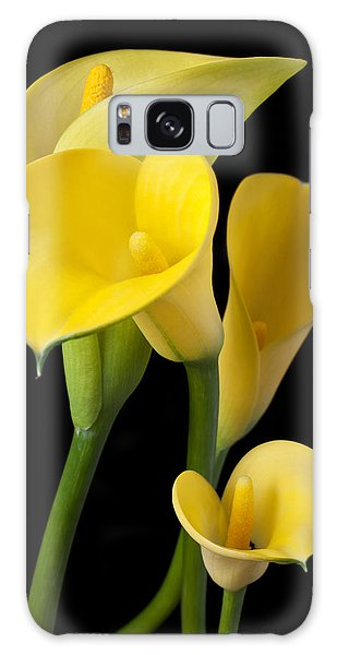 Four Yellow Calla Lilies Galaxy Case