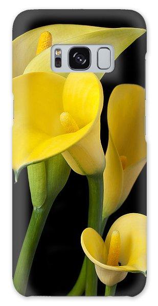 Four Yellow Calla Lilies Galaxy Case