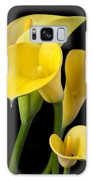 Lily Galaxy S8 Case - Four Yellow Calla Lilies by Garry Gay