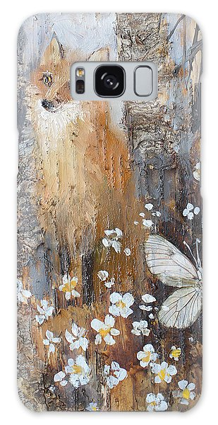Fox And Butterfly Galaxy Case