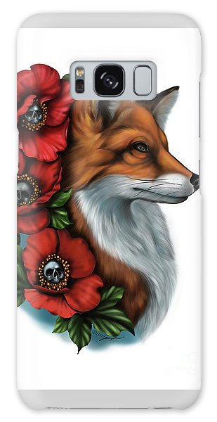 Fox And Poppies Galaxy Case
