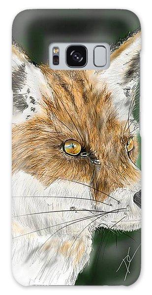 Galaxy Case featuring the digital art Fox by Darren Cannell