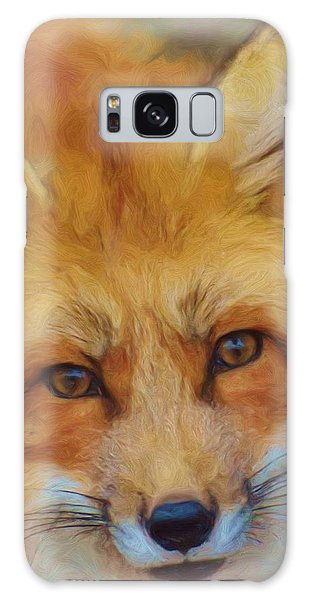 Fox Face Taken From Watercolour Painting Galaxy Case