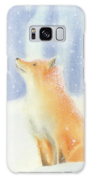 Fox In The Snow Galaxy Case by Taylan Apukovska
