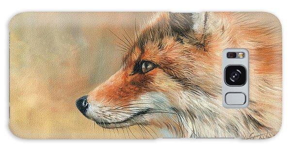 Fox Portrait Galaxy Case by David Stribbling