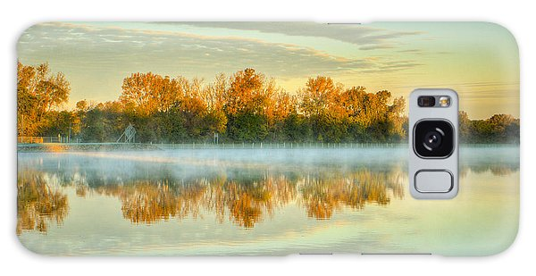 Fox River Above Mchenry Dam At Sunrise Galaxy Case
