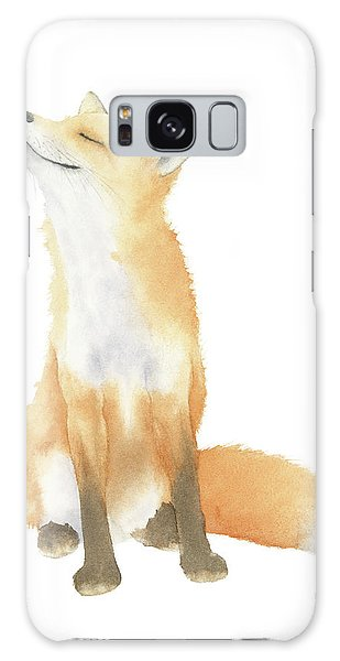 Fox Watercolor Galaxy Case by Taylan Apukovska
